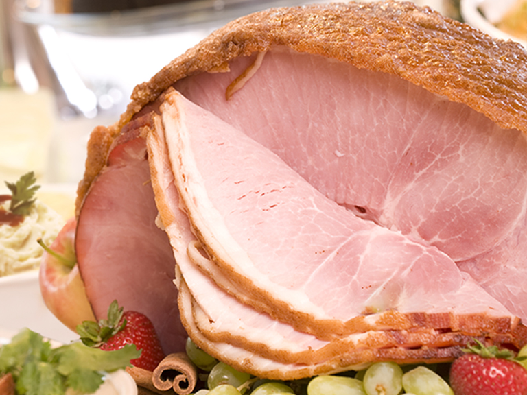 Order a freshly prepared traditional spiral ham dinner, just heat and serve!