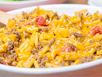 Everyone's favorite, beef cheese and pasta casserole.  Great for busy hockey families.