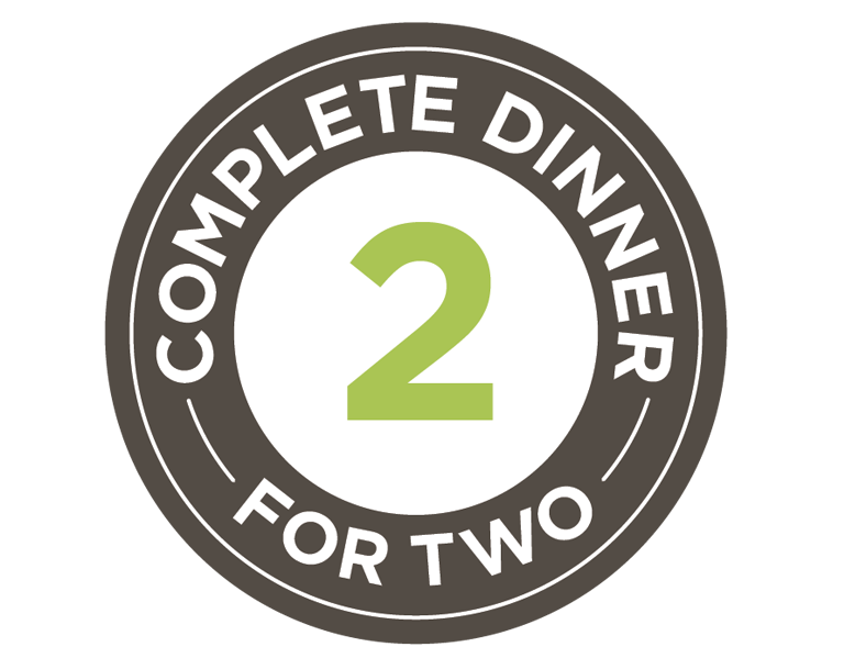 Complete dinner for two graphic