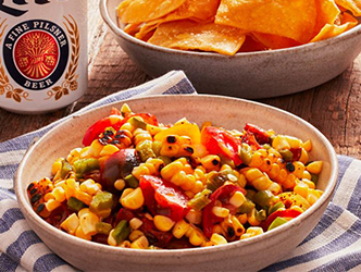 Corn, Tomato, and Hatch Chile Salsa