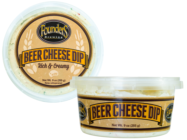 packages of Founders Beer Cheese Dip