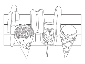 Frozen Treats Coloring sheet