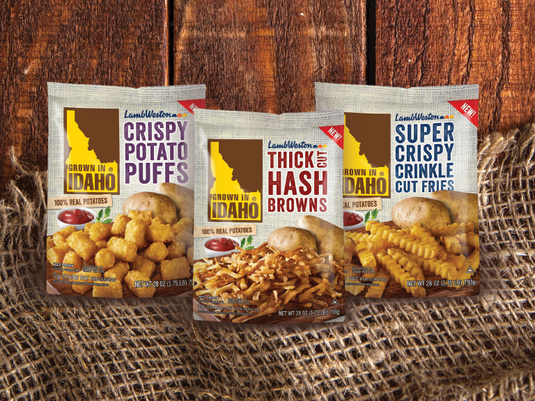 Grown In idaho product collage