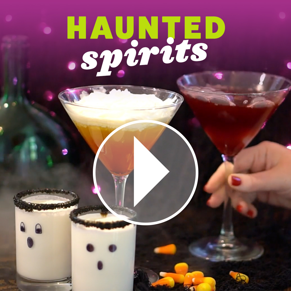 Learn how to make these halloween themed adult beveages