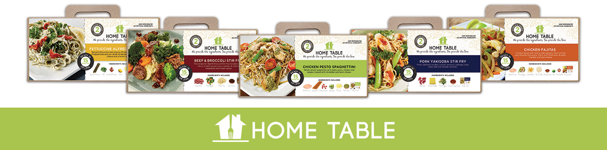 Home Table logo and packaging