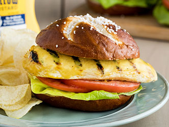 French's mustard ranch chicken sandwich