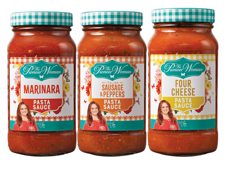 Pioneer Woman brand pasta sauces