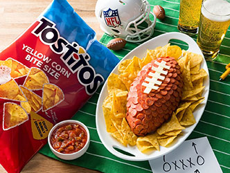Pepperoni Cheese Ball for NFL Kickoff