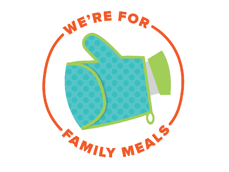 We're Here for Family Meals Logo