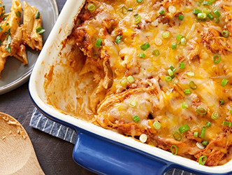 Baked cheesey enchilada penne