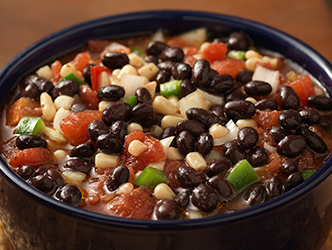 salsa made with tomatoes black beans and corn