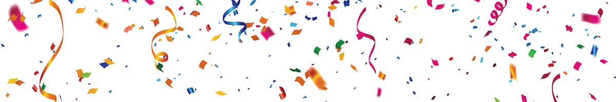 image of confetti on white background