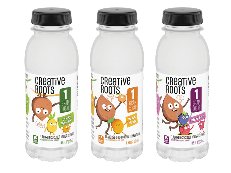 Creative Roots flavored waters just for kids!
