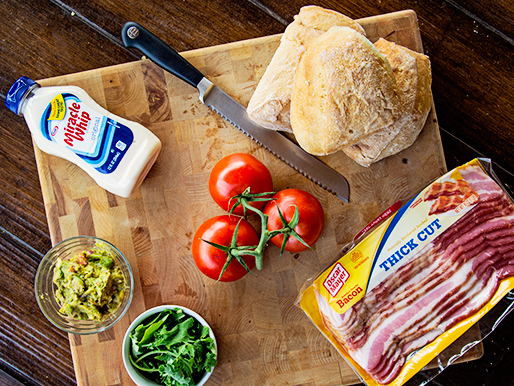 A better BLT recipe has better ingredients including Miracle Whip, guacamole, Kale, and OscarMeyer Thick Cut Bacon.