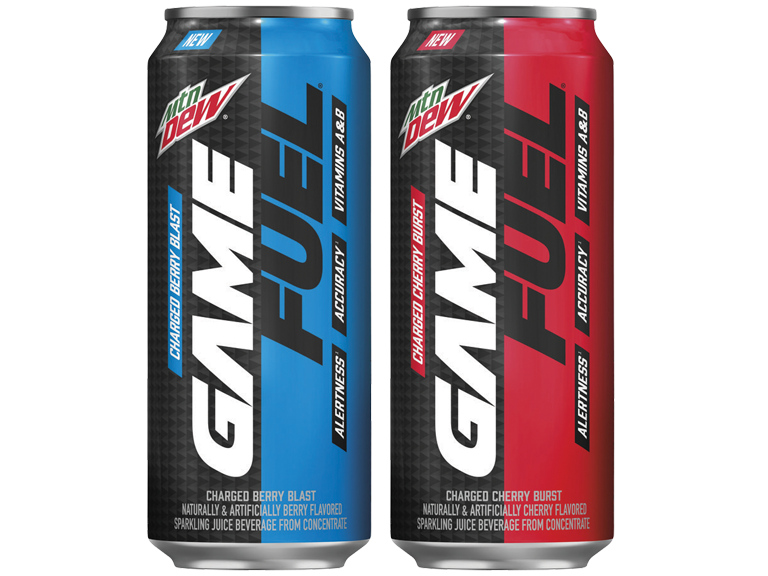photo of mountain dews game fuel beverages