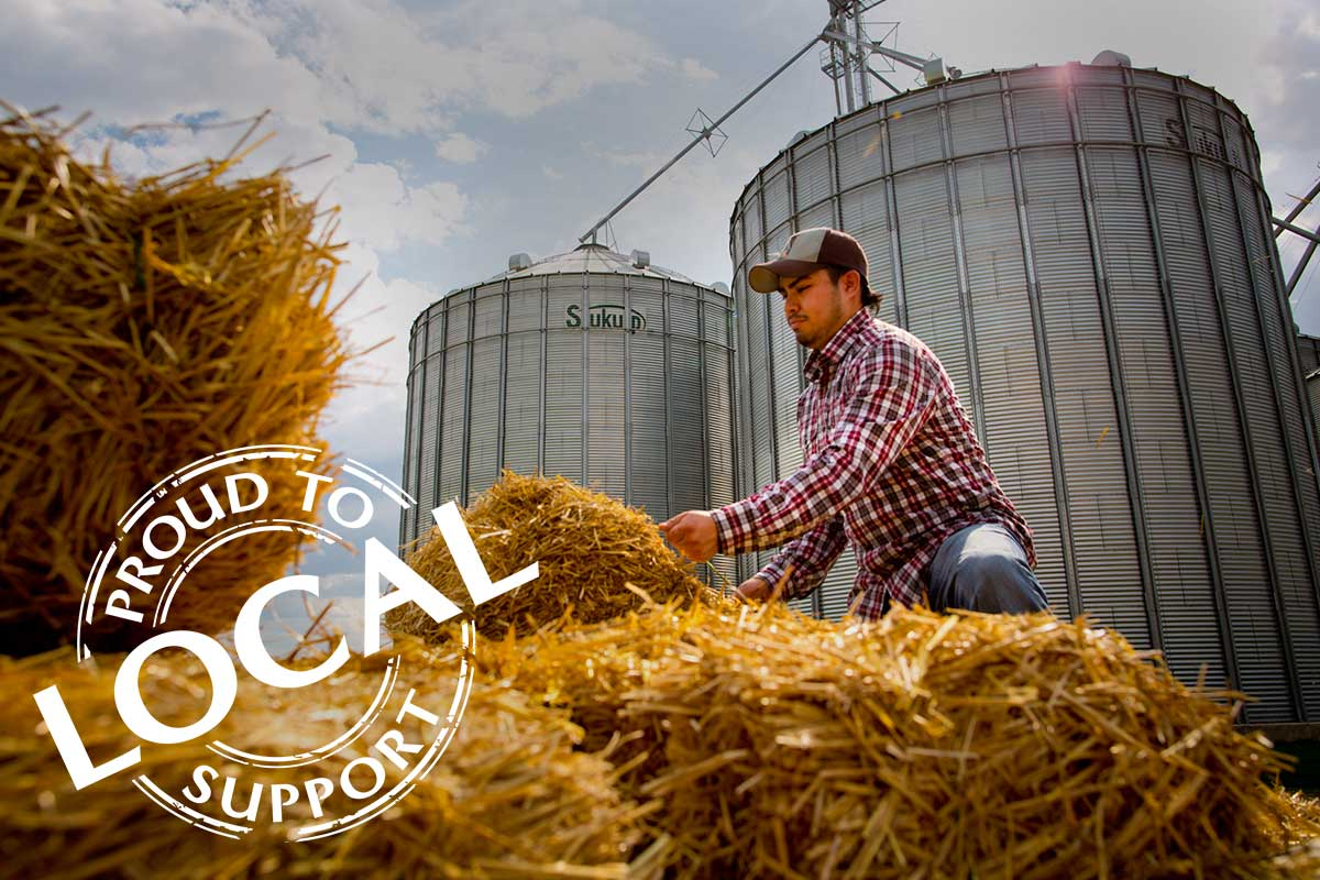 Local produce supports local farmers, families and local economies.