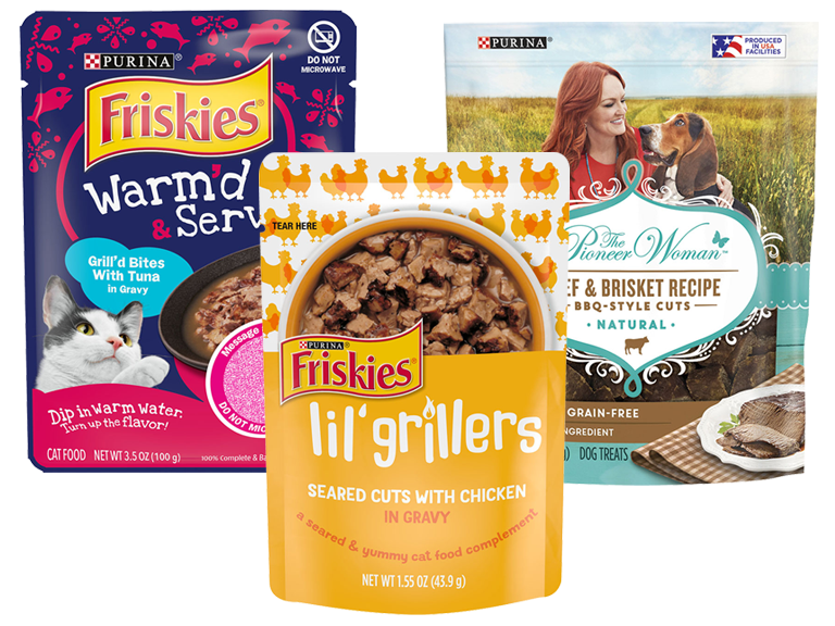 Purina brand pet treats, new varieties available now