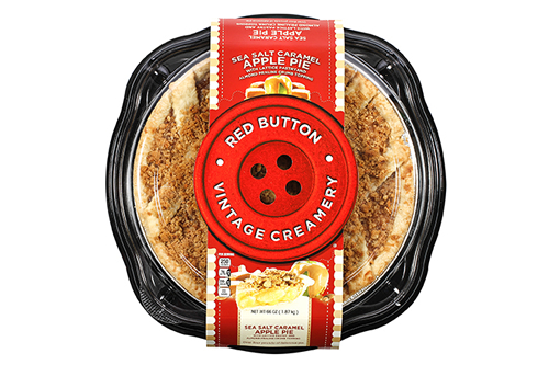 Look for the distinctive Red Button Vintage Creamery package