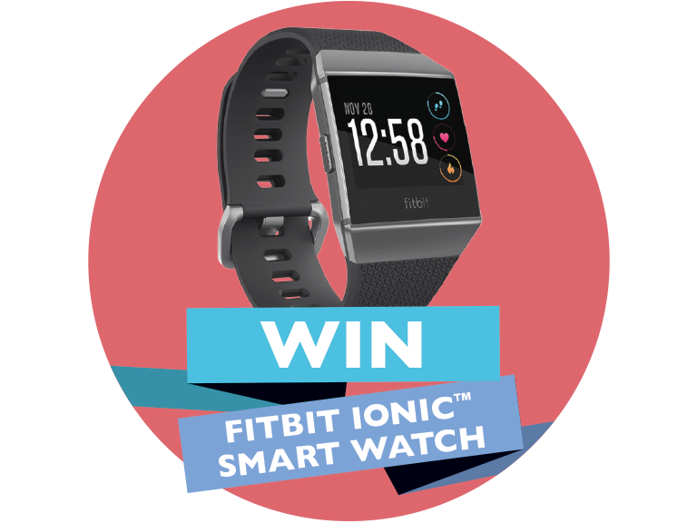 win a fitbit ionic smart watch