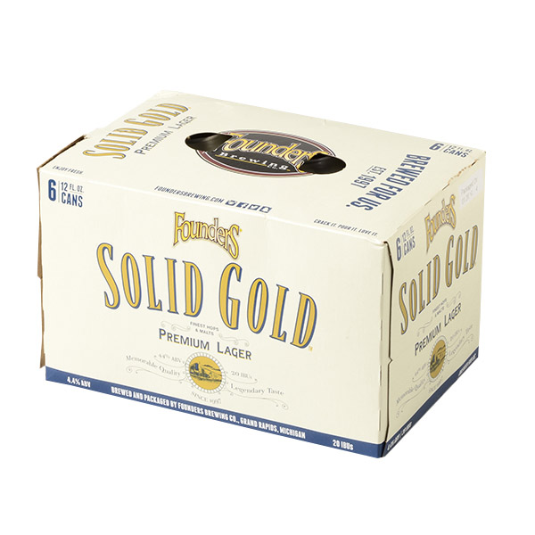 Founders Solid Gold 6pk can