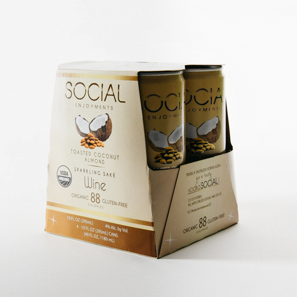 Social Toasted Coconut Almond 4pk