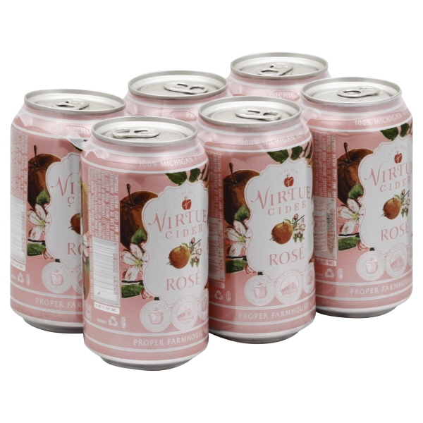 Virtue Rose Cider 6pk can