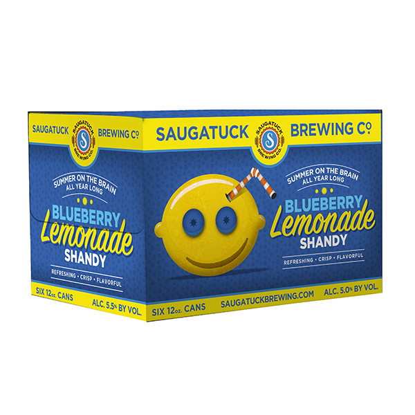 Saugatuck Blueberry Lemonade Shandy 6pk can By The Case!