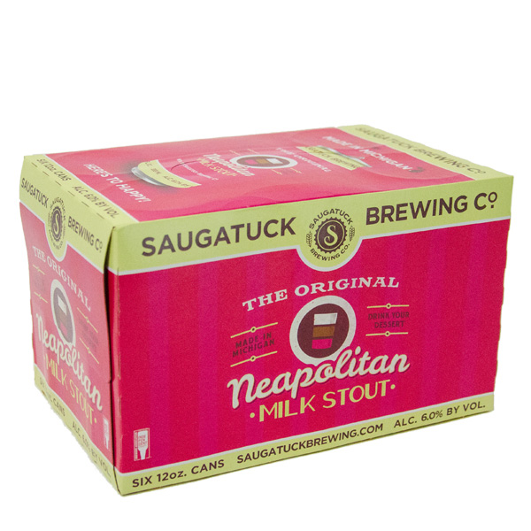 Saugatuck Neapolitan Milk Stout 6pk can By The Case!